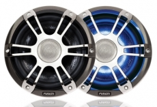 "SG-CL65SPC  6.5"" 230 WATT Coaxial Sports Chrome Marine Speaker with LEDs SG-CL65SPC"